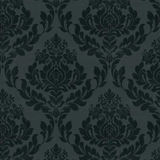 black damask wallpaper on - photo #13