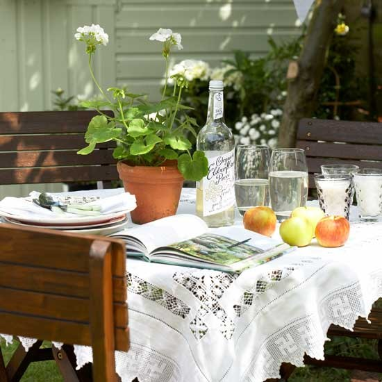Vintage lace tablecloth | Garden idea | Country garden | PHOTO GALLERY | Housetohome.co.uk