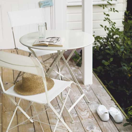 Tiffany steel table and chairs from Debenhams | Garden furniture ...