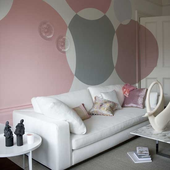Paint Statement Circles Modern Feature Wall Ideas 10