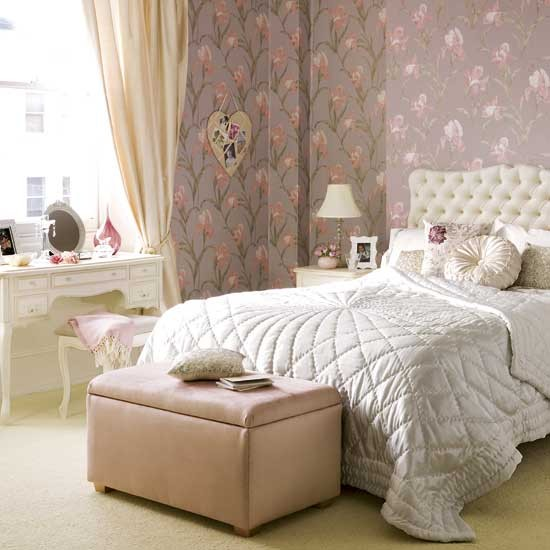 flower power boudoir feminine bedroom designs image housetohome