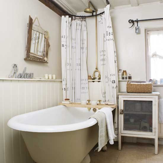 Rustic Cottage Bathroom on old timey house plans
