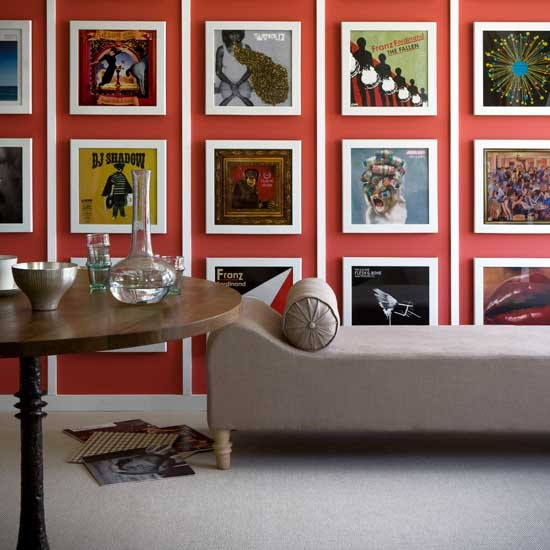 Living room with album art | Living rooms | Decorating ideas | Image | Housetohome