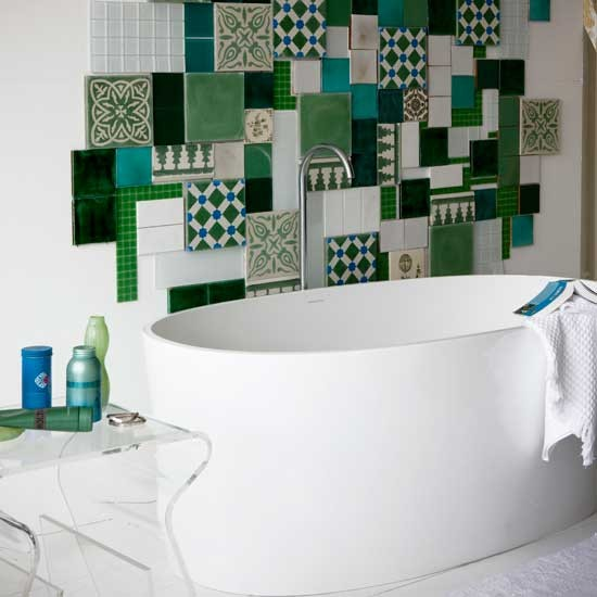 Mosaic bathroom | Bathroom idea | Tiles | Image | Housetohome.co.uk