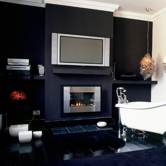 Fireplace from Homebase  10 ways to disguise your TV  ~ 165136_Living Room Ideas Homebase