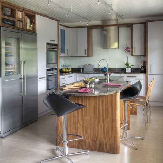 Steel accents kitchen | Kitchens | Image | Housetohome