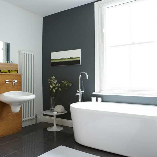modern black bathroom restored victorian villa home