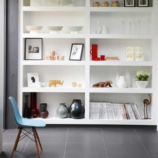 Kitchen Shelves Habitat: Contemporary White Shelving