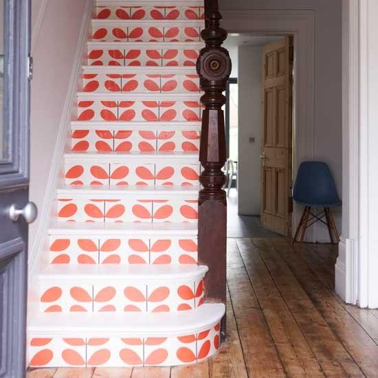 Bold Red Staircase Restored Victorian Villa Home