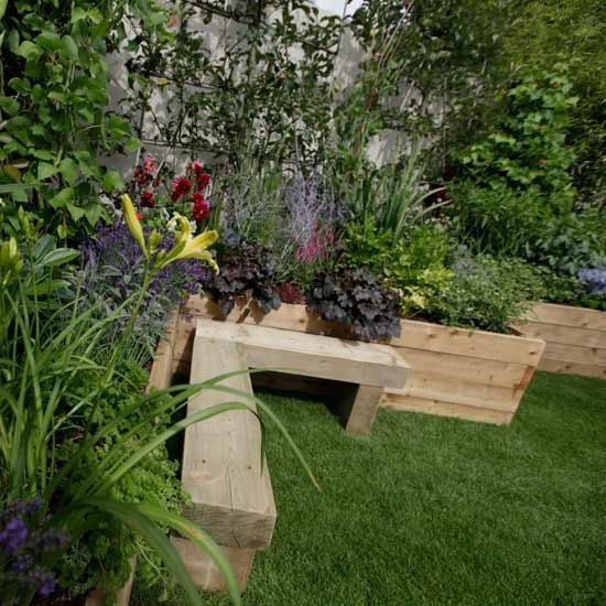 Cute Corner Seating Area Hampton Court Flower Show Image