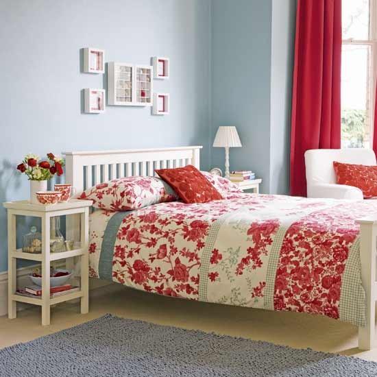 Modern folk bedroom Colourful bedroom designs Floral  : bedroom40 from www.housetohome.co.uk size 550 x 550 jpeg 70kB