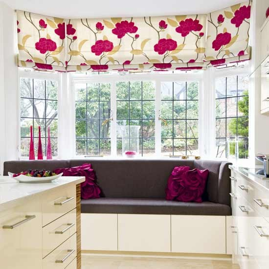 Chocolate and cherry window seat | Living rooms | Decorating ideas | Image | Housetohome