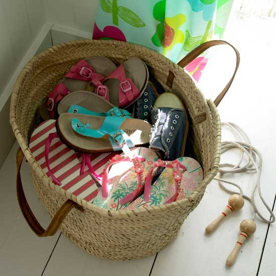 Encourage tidy habits with a shoe basket | Summer holidays with the kids | Kid's games | PHOTO GALLERY | Housetohome.co.uk