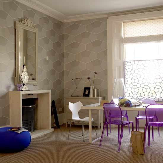 Honeycomb wallpaper dining room | Dining rooms | Image | Housetohome