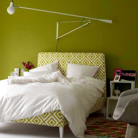 Lime green bedroom | Bright bedroom designs | Image | Housetohome