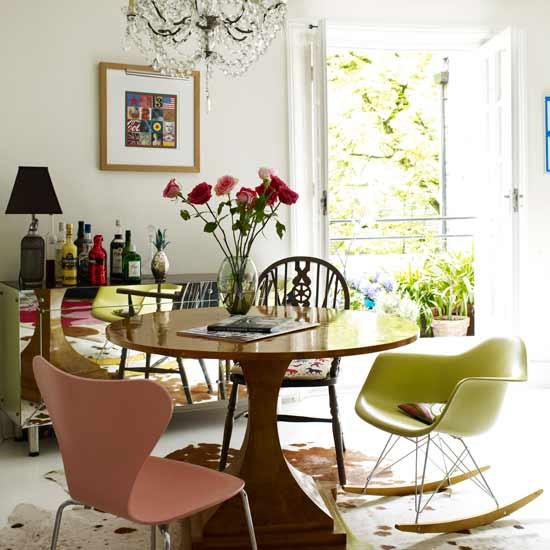 Eclectic dining room | Dining rooms | Decorating ideas | Image | Housetohome