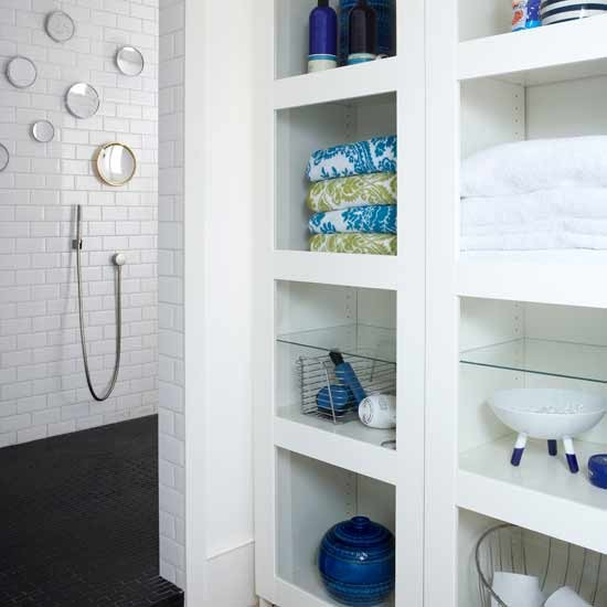 Built-in Bathroom Storage