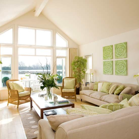 Lakeside living room living rooms decorating ideas image - Airy brown and cream living room designs inspired from outdoor colors ...