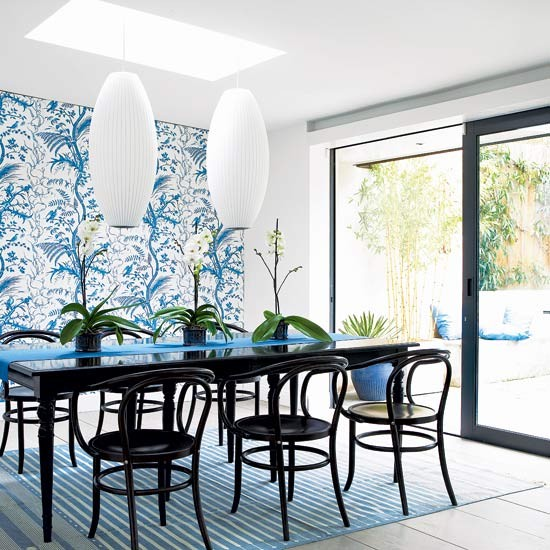 Botanical dining room | Dining room design | Image | Housetohome