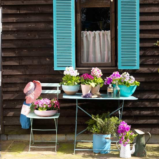 Colourful Provencal-style patio | Garden designs | Image | Housetohome