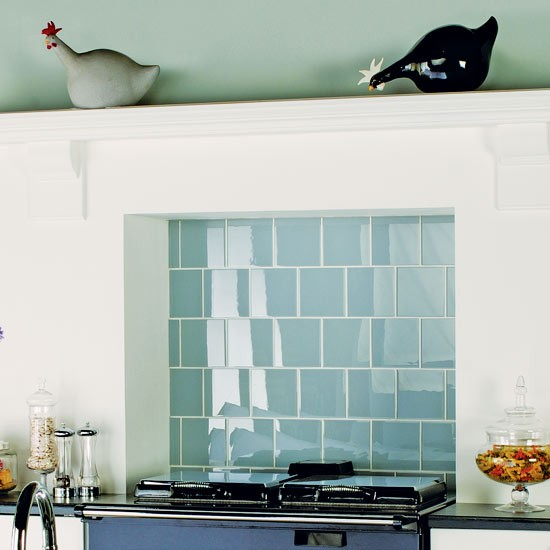 Clear glass tiles from original style kitchen for Splashback tiles kitchen ideas
