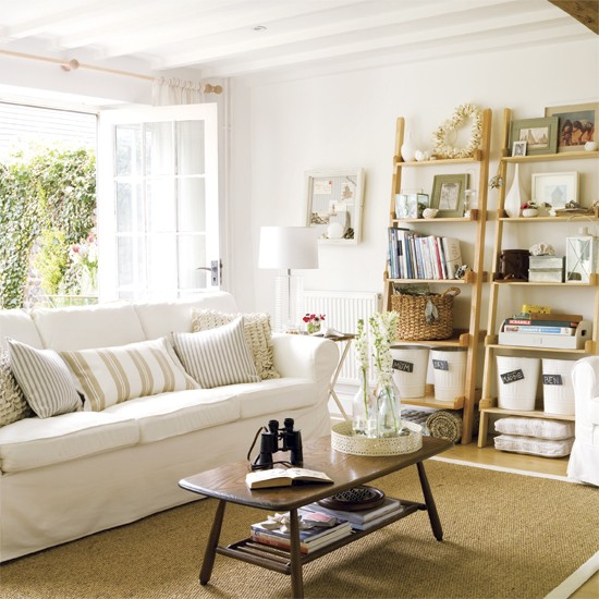 Relaxed Coastal Living Room Living Rooms Designs Image