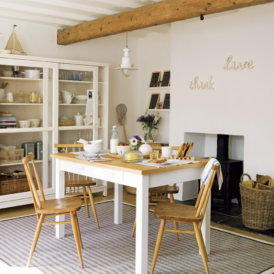 Seaside style Dining Room Design Image Housetohomecouk