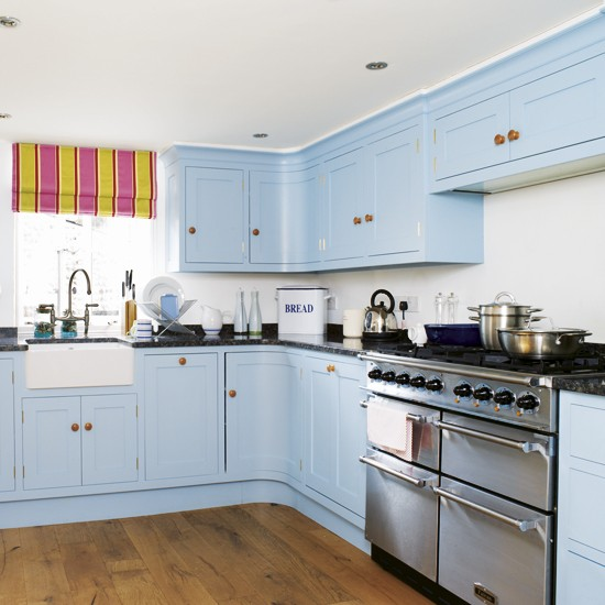Sky blue kitchen  Kitchen colour schemes  Kitchen decorating ideas