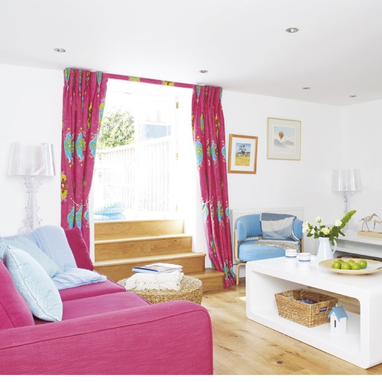 Hot Pink Living Room Housetohomecouk