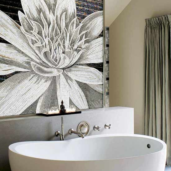 Mosaics breathe life into dull bathrooms