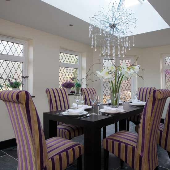 Modern upholstered dining room dining room ideas image for Dining room designs uk