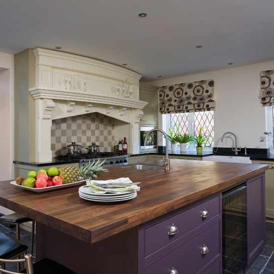 Purple kitchen units  Kitchens  Design ideas  Image  Housetohome