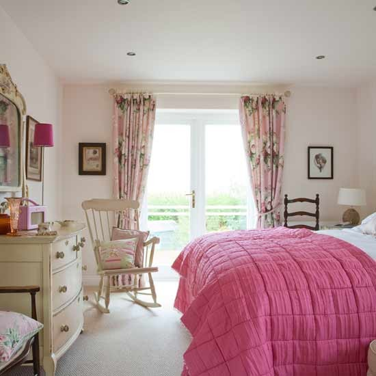 Pink Feminine Bedroom Bedroom Design Curtains