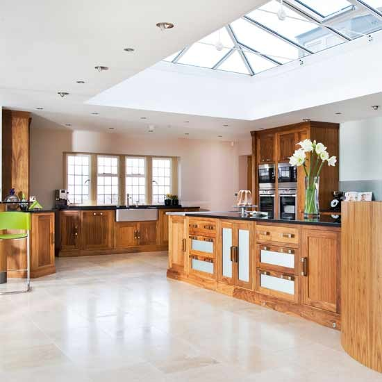 Rich walnut units kitchens decorating ideas image for Rich kitchen designs