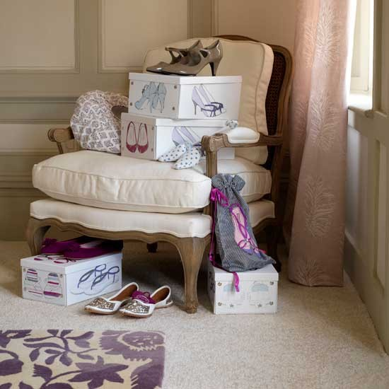 Shoe storage boxes | Dressing room ideas | Bedroom designs | Bedroom storage | PHOTO GALLERY | Housetohome.co.uk