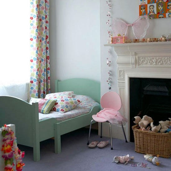 Floral accents bedroom  Girls bedrooms  housetohomecouk