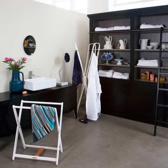 Dramatic bathroom storage bathrooms design ideas for Dramatic bathroom designs