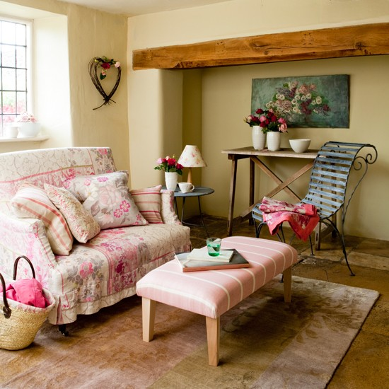 Pretty Living Room Ideas Entrancing With Country Cottage Style Living Room Picture
