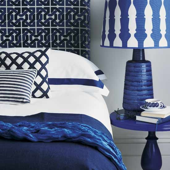 Blue and white contemporary bedroom | Fresh blue bedroom makeovers | Design | Homes & Gardens | PHOTO GALLERY | Housetohome.co.uk