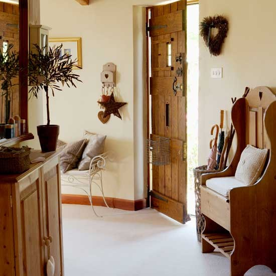 Country Hallway Hallways Design Ideas Image