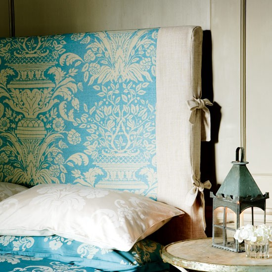 Headboards can be greats ways of adding colour to your bedroom