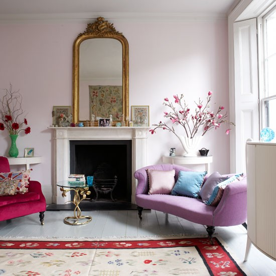 Decorating ideas from lulu guinness 39 victorian terrace for Living room ideas pastel