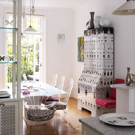 Monochrome dining room decorating ideas from lulu for Victorian terrace dining room ideas