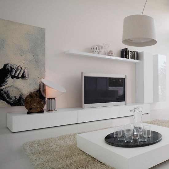 How to integrate a tv into your living room - Muebles para televisiones planas ...