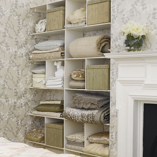Bedroom storage shelves | Bedrooms | Design ideas | Image | Housetohome