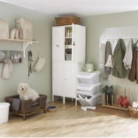 Utility room with large free-standing dresser