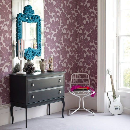 Decorative wallpaper | Wallpaper ideas | Bedrooms | Image | Housetohome