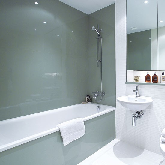Install sleek glass panels bathroom design ideas - Bathroom wall paneling ideas ...
