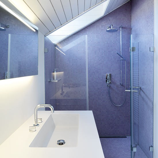 Introduce glamour to a small bathroom bathroom design for Tiny shower room design