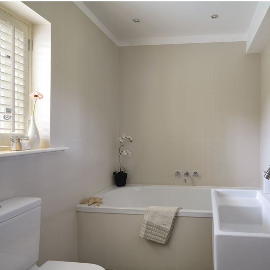 Cream bathroom | Bathrooms | Design ideas | Image | housetohome.co.uk